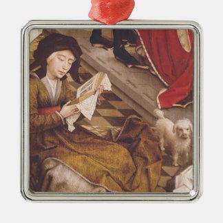 The Seven Sacraments Altarpiece 2 Square Metal Christmas Ornament