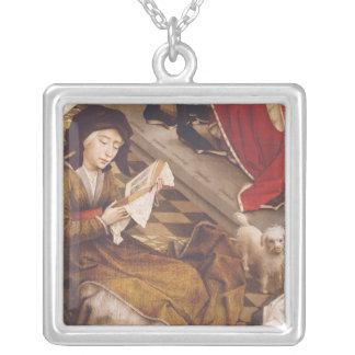 The Seven Sacraments Altarpiece 2 Square Pendant Necklace
