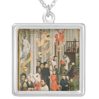 The Seven Sacraments Altarpiece Square Pendant Necklace