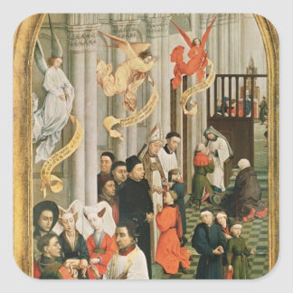 The Seven Sacraments Altarpiece Square Sticker