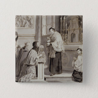 The Seven Sacraments: Communion, 1779 (pen, brown Button