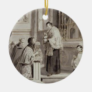 The Seven Sacraments: Communion, 1779 (pen, brown Ceramic Ornament
