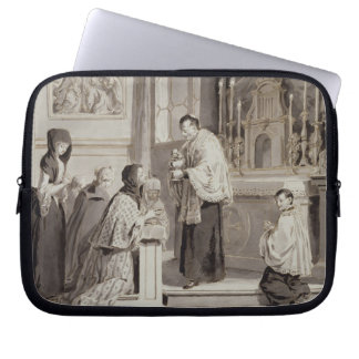 The Seven Sacraments: Communion, 1779 (pen, brown Laptop Sleeve