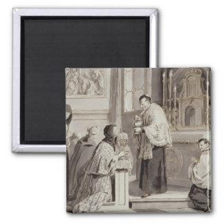 The Seven Sacraments: Communion, 1779 (pen, brown Magnet