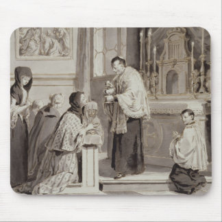 The Seven Sacraments: Communion, 1779 (pen, brown Mouse Pad