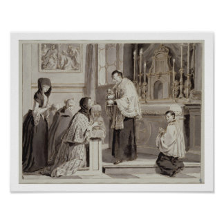 The Seven Sacraments: Communion, 1779 (pen, brown Poster