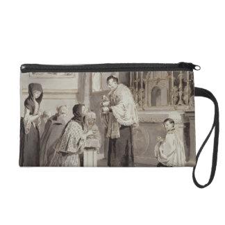 The Seven Sacraments: Communion, 1779 (pen, brown Wristlet Purse