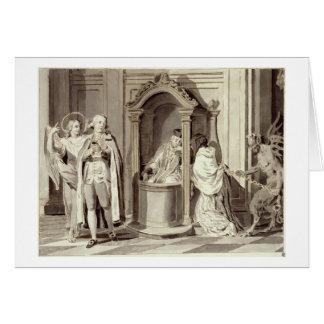 The Seven Sacraments: Confession, 1779 (pen, brown Card