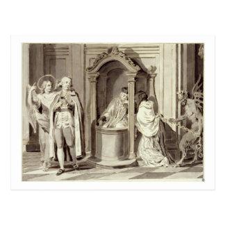 The Seven Sacraments: Confession, 1779 (pen, brown Postcard