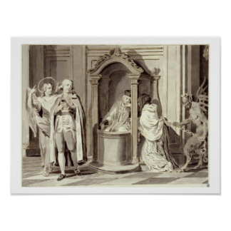 The Seven Sacraments: Confession, 1779 (pen, brown Poster