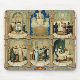 The Seven Sacraments Mouse Pad