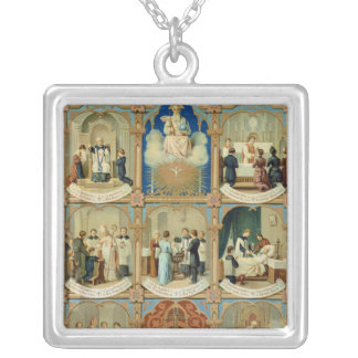 The Seven Sacraments Silver Plated Necklace