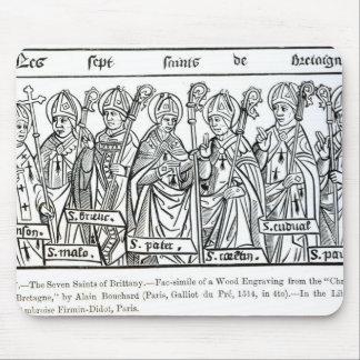 The Seven Saints of Brittany Mouse Pad