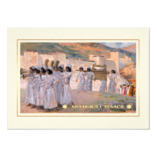 The Seven Trumpets of Jericho. Passover Cards