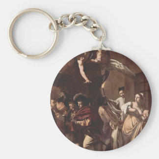 The Seven Works of Mercy by Caravaggio Keychain