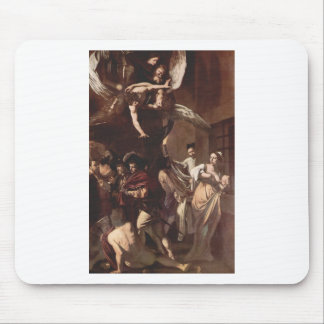 The Seven Works of Mercy by Caravaggio Mouse Pad