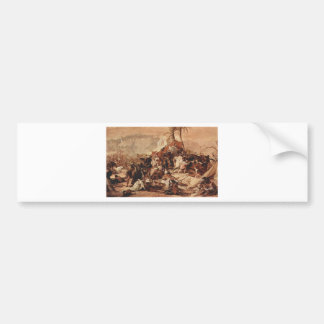 The seventh crusade against Jerusalem by Francesco Car Bumper Sticker