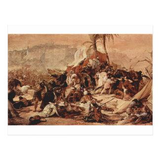The seventh crusade against Jerusalem by Francesco Postcard