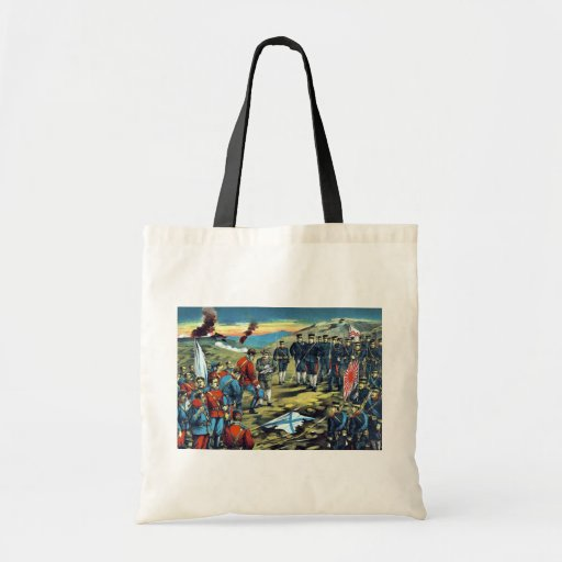 The severe battle of Teh-li-sz  by Kasai,Torajirō Tote Bags