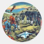 The severe battle of Teh-li-sz  by Kasai,Torajirō Stickers