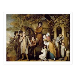 The Severe Steward, or Unfortunate Tenant (oil on Postcard