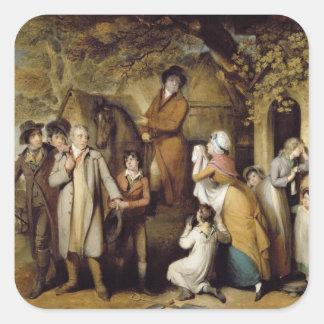 The Severe Steward, or Unfortunate Tenant (oil on Square Stickers