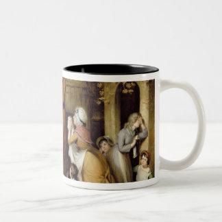 The Severe Steward, or Unfortunate Tenant (oil on Two-Tone Coffee Mug