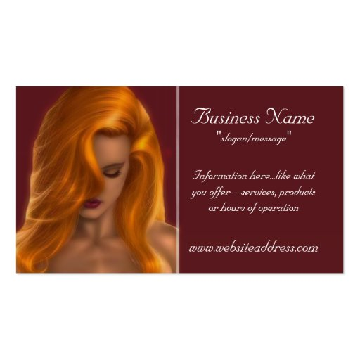 The Sexy Redhead Business Cards