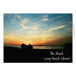 The Shack Silhouette Sunset Card