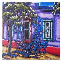 "The ""Shaded Doorway, Tucson Barrio"" Tile"