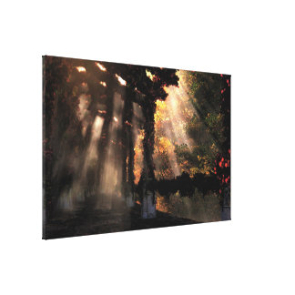 The Shaded Path (Autumn) Wrapped Canvas