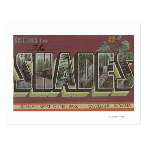 The Shades - Large Letter Scenes Postcard