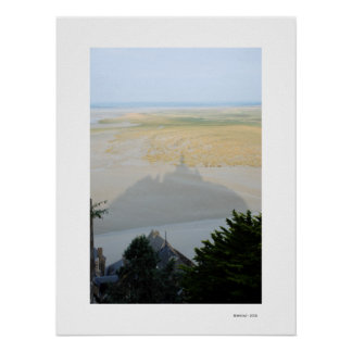 THE SHADOW OF MONT ST MICHEL Poster