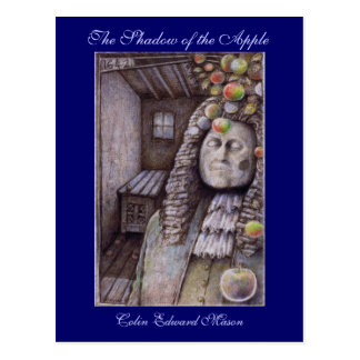 The Shadow of the Apple Art Postcard