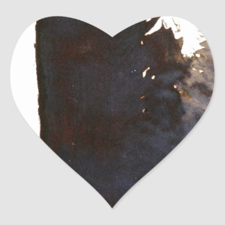 The shadow of the monolith heart sticker