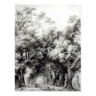 The shady alley, c.1773-74 postcard