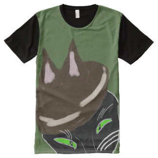 The Shady Cats' Hat All-Over Print Shirt