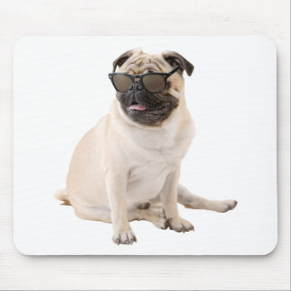 The Shady Pug (Color) Mouse Pad