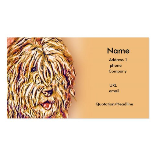 The Shaggy Dog Double-Sided Standard Business Cards (Pack Of 100)