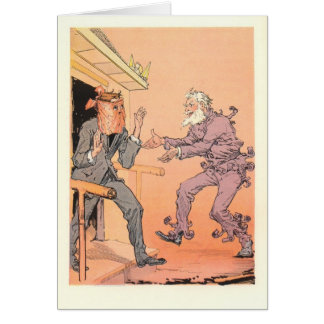 The Shaggy Man rushes to greet his lost brother Greeting Cards