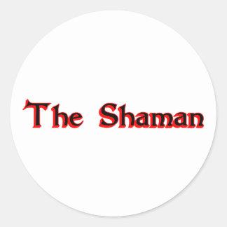 The Shaman Round Stickers