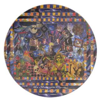 The Shaman's Dream ~ original collage by Aleta Dinner Plate