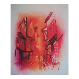 The Shambles in York Poster/Print Poster