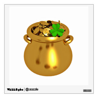 The Shamrock And The Pot Of Gold Wall Sticker