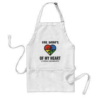 The Shape Of My Heart Adult Apron