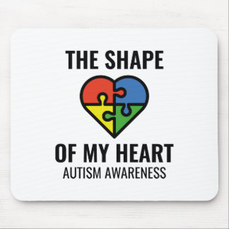 The Shape Of My Heart Mouse Pad
