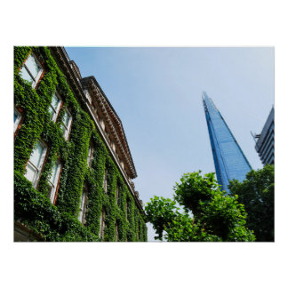 The Shard and Guy's Hospital covered in Ivy London Poster