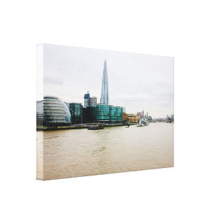 The Shard and River Thames, London Photograph Canvas Print