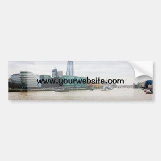 The Shard and river Thames, London UK Car Bumper Sticker