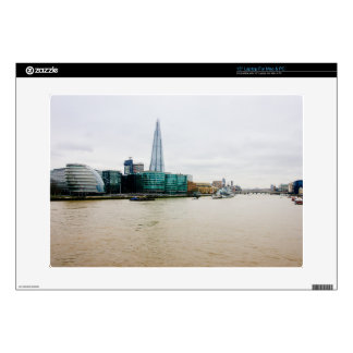 The Shard and river Thames, London UK Decals For Laptops